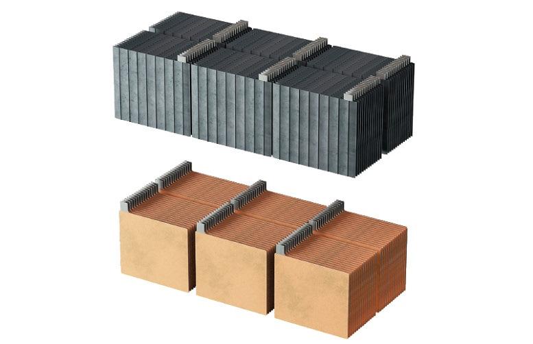 У батарей B-Box отрицательные пластины изготавливаются с легированием присадками, повышающими эффективность зарядки и ограничением степени сульфатации